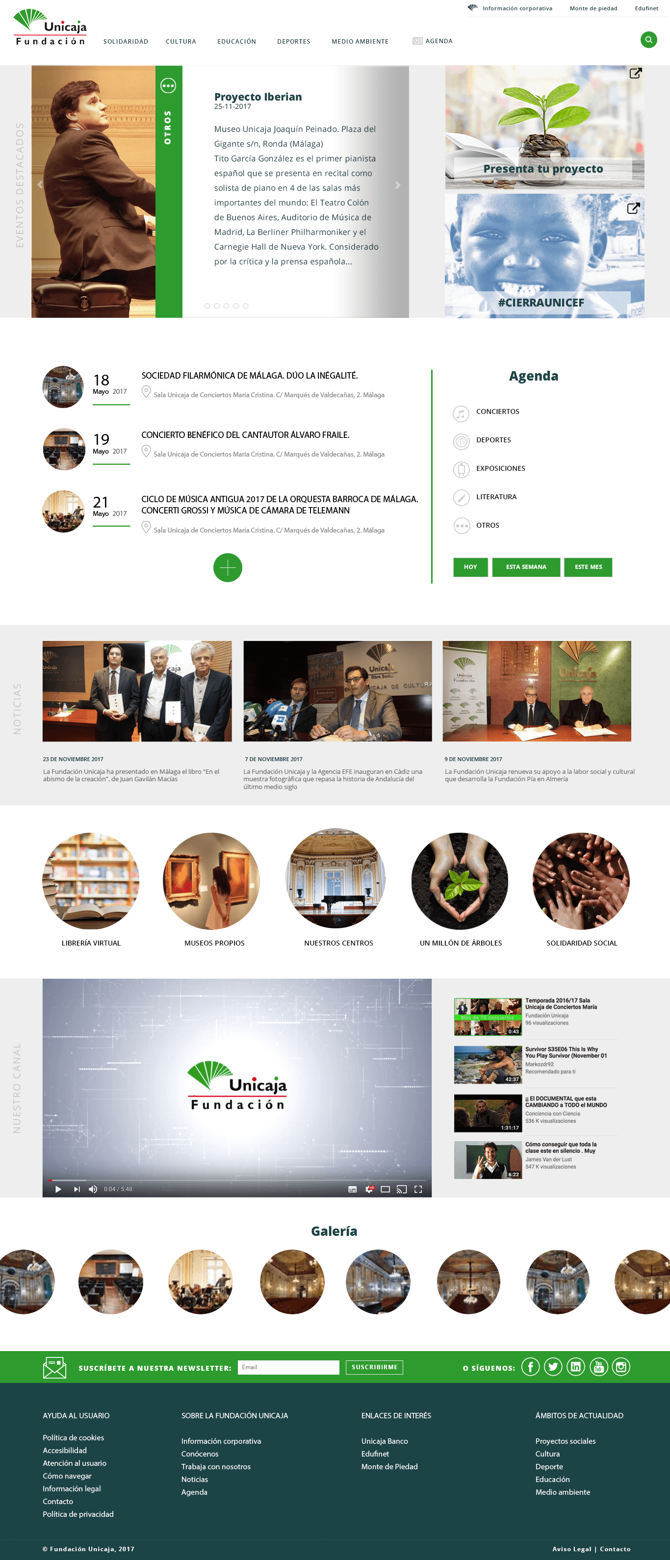 Unicaja Ricardo Bruzual Web